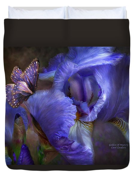 Goddess Of Mystery Duvet Cover by Carol Cavalaris