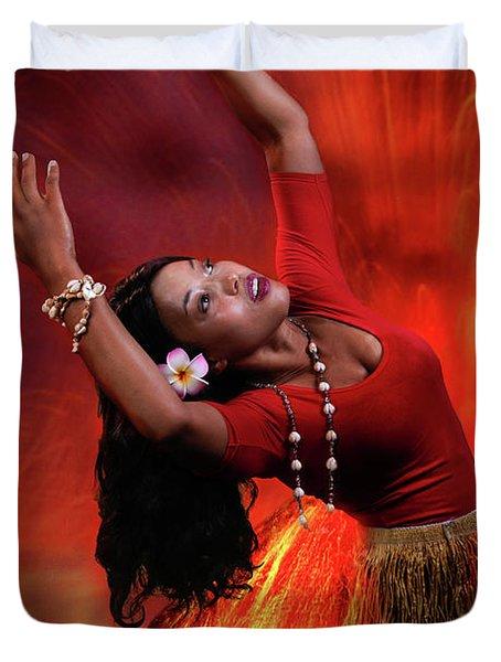 Goddess Pele Duvet Cover