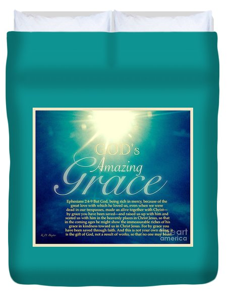 God's Amazing Gift Of Grace Duvet Cover