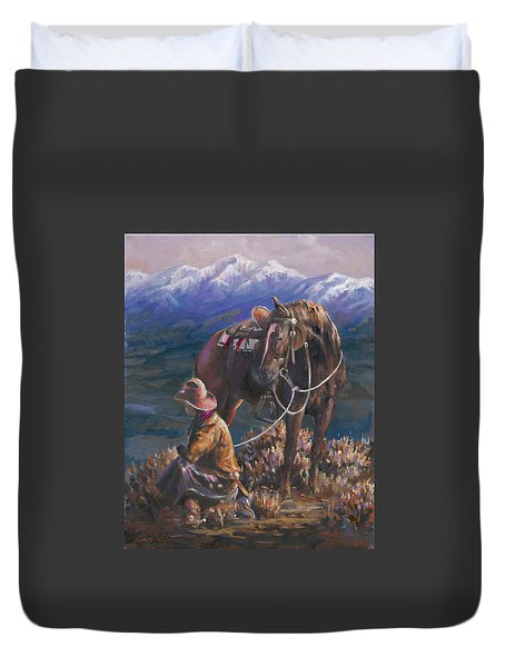 God's Country Duvet Cover by Mia DeLode