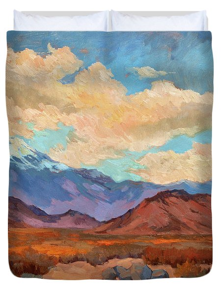 God's Creation Mt. San Gorgonio  Duvet Cover by Diane McClary