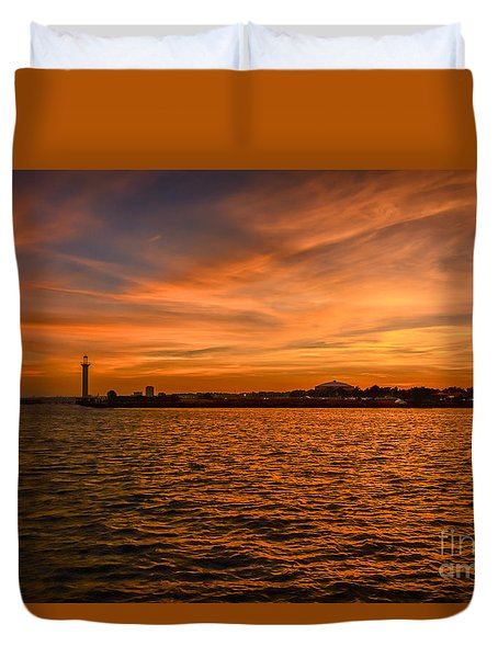 God's Grand Show Duvet Cover by Brian Wright