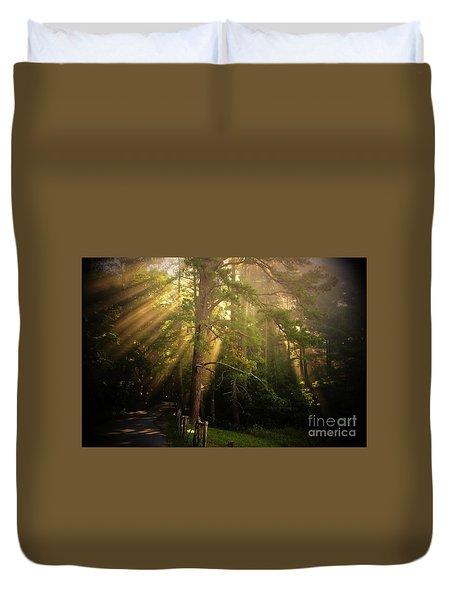 God's Light 2 Duvet Cover by Geraldine DeBoer