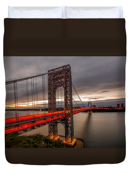 Duvet Cover featuring the photograph Gods Light  by Anthony Fields