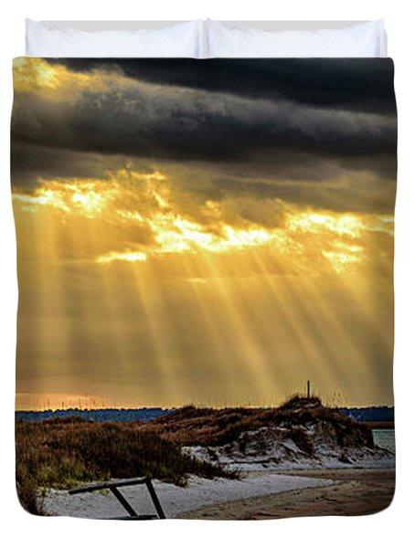 God's Light Duvet Cover