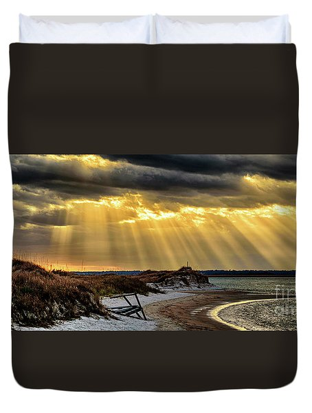 God's Light Duvet Cover