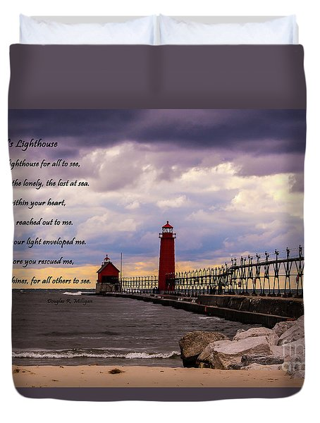 God's Lighthouse Duvet Cover
