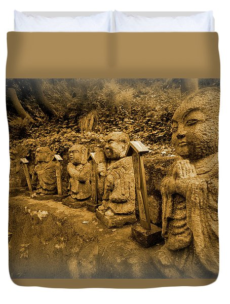 Duvet Cover featuring the photograph Gods Of Japan by Daniel Hagerman