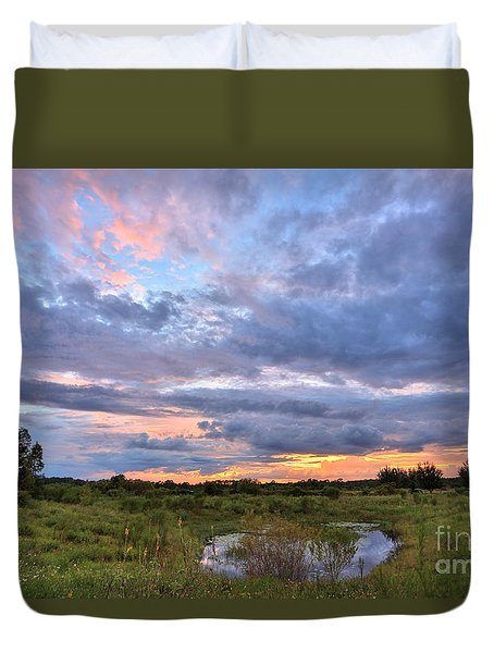 God's Painting Duvet Cover by Mina Isaac