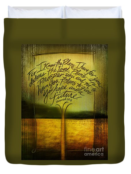God's Plans Duvet Cover