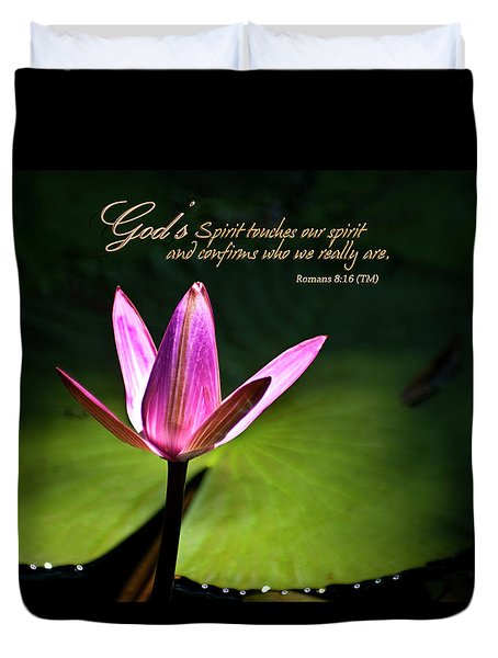 Duvet Cover featuring the photograph God's Spirit by Carolyn Marshall