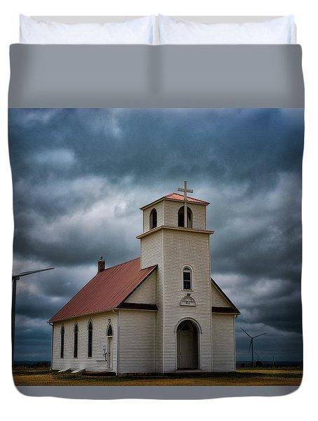 God's Storm Duvet Cover by Darren White