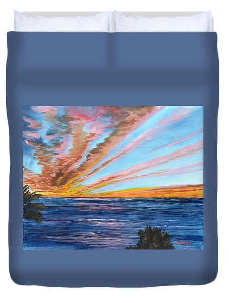 God's Magic On The Key Duvet Cover