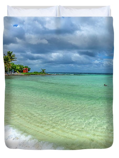Goff's Caye Belize Pano Duvet Cover