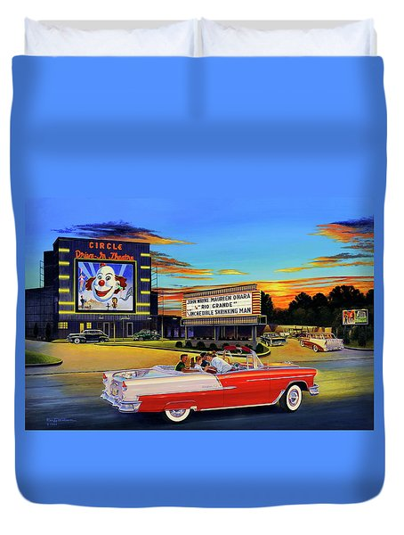 Goin' Steady - The Circle Drive-in Theatre Duvet Cover