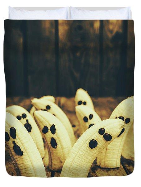 Going Bananas Over Halloween Duvet Cover