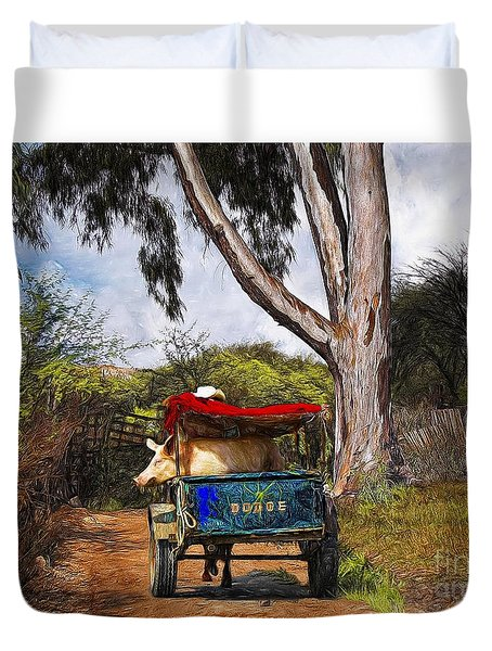 Going For A Ride Duvet Cover