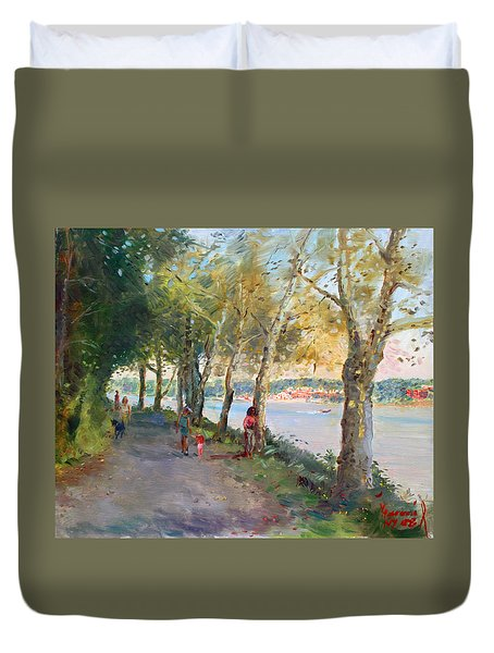 Going For A Stroll Duvet Cover by Ylli Haruni