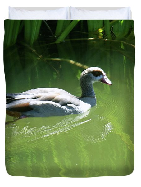 Going For A Swim Duvet Cover by Methune Hively