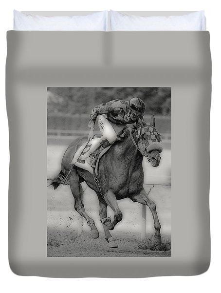 Going For The Win Duvet Cover by Lori Seaman