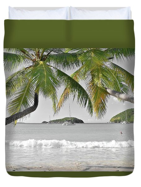 Duvet Cover featuring the photograph Going Green To Save Paradise by Frozen in Time Fine Art Photography