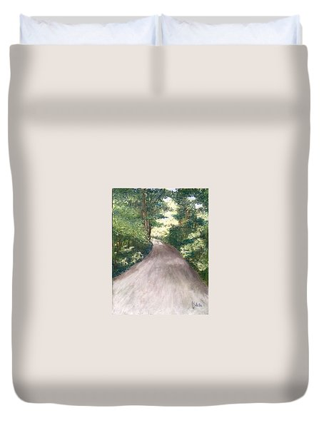 Duvet Cover featuring the painting Going Home by Annamarie Sidella-Felts