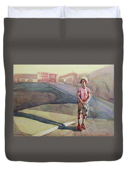 Coming Home Duvet Cover by Becky Kim