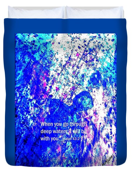 Going Through Deep Waters Duvet Cover by Hazel Holland