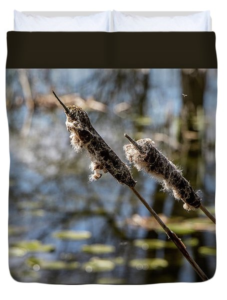 Duvet Cover featuring the photograph Going To Seed by Odd Jeppesen