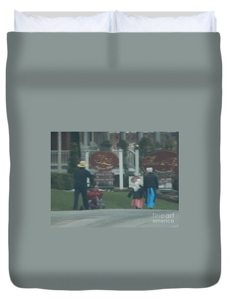 Going To Town Duvet Cover