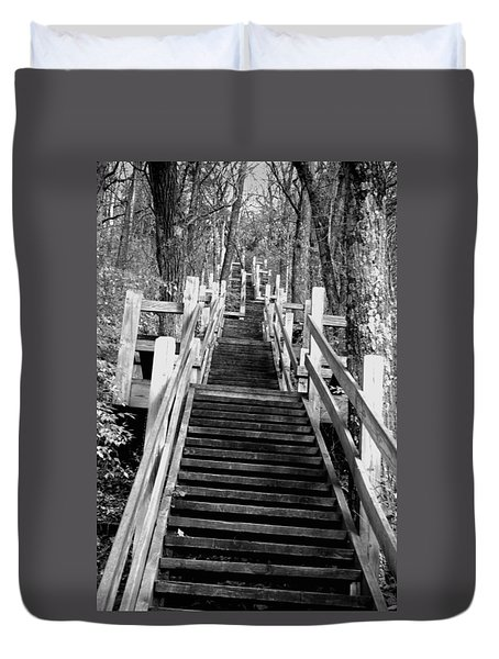 Going Up Duvet Cover