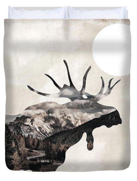 Going Wild Moose Duvet Cover
