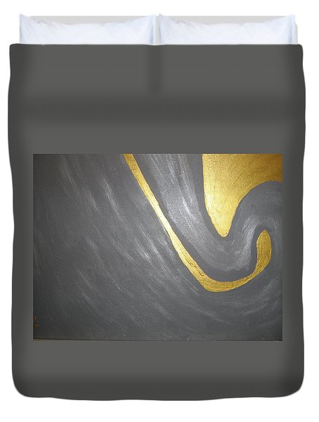 Gold And Gray Duvet Cover