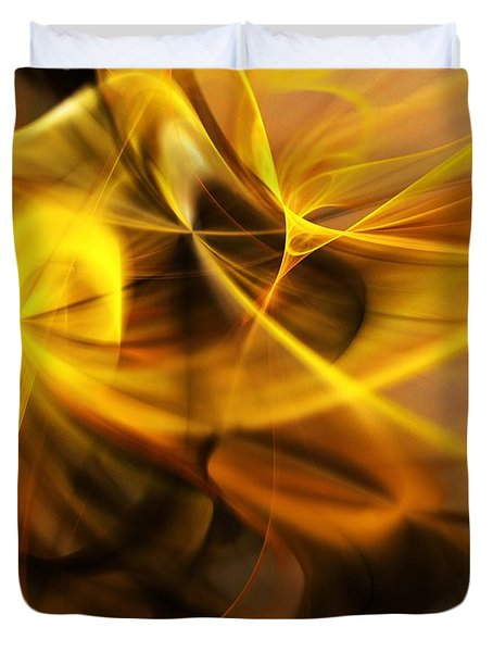 Gold And Shadows Duvet Cover
