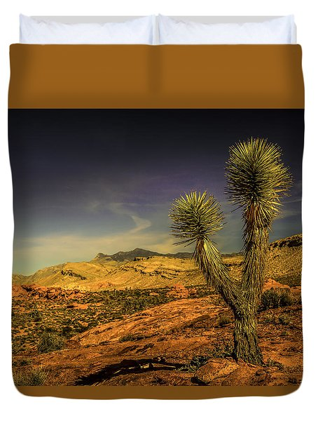 Duvet Cover featuring the photograph Gold Butte From The Joshua by Janis Knight