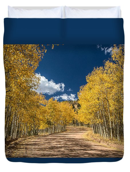 Gold Camp Road Duvet Cover