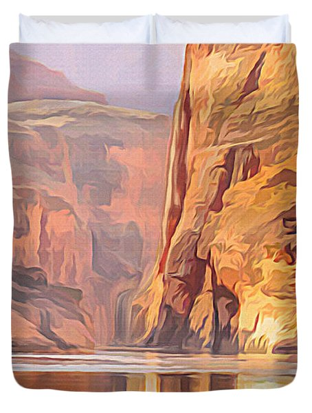 Gold Canyon River Duvet Cover