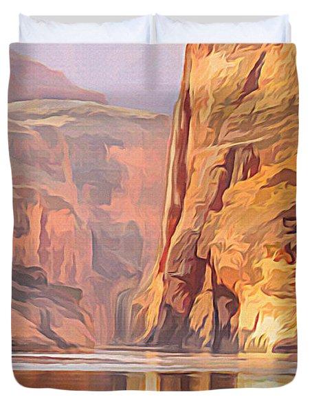 Gold Canyon River Duvet Cover