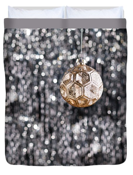 Duvet Cover featuring the photograph Gold Christmas by Ulrich Schade