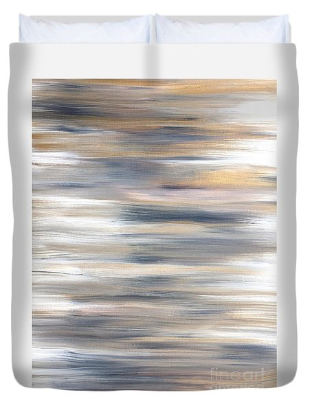 Gold Coast #21 Landscape Original Fine Art Acrylic On Canvas Duvet Cover