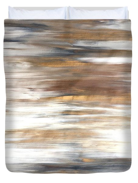 Gold Coast #22 Landscape Original Fine Art Acrylic On Canvas Duvet Cover