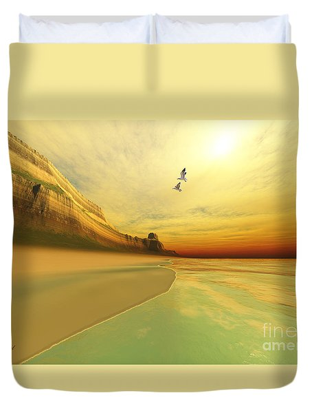 Gold Coast Duvet Cover by Corey Ford