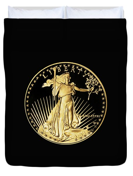 Gold Coin Front Duvet Cover