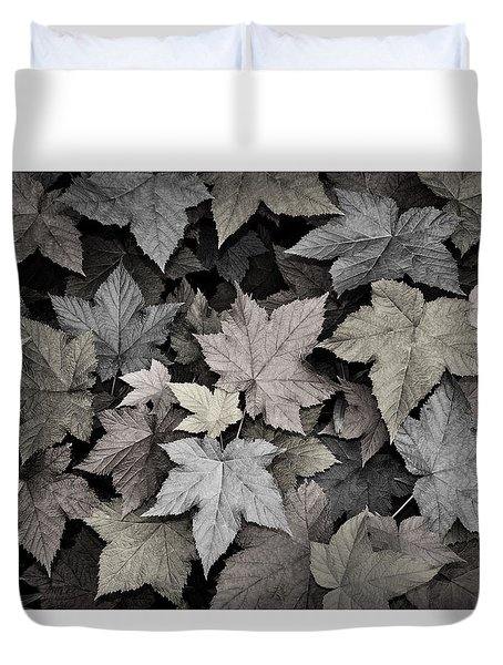 Gold Copper And Silver Leaves 1 Duvet Cover