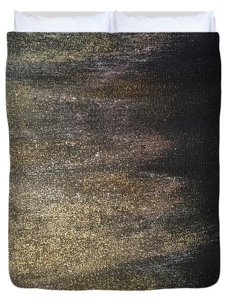 Gold Dusty Night Duvet Cover