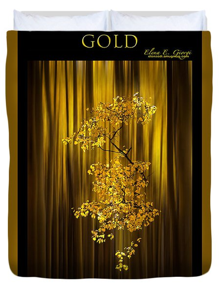 Gold Duvet Cover