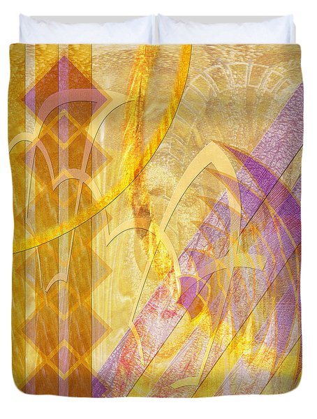 Gold Fusion Duvet Cover by John Beck
