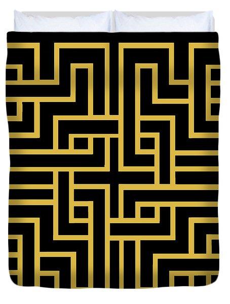 Gold Geo 6 Duvet Cover