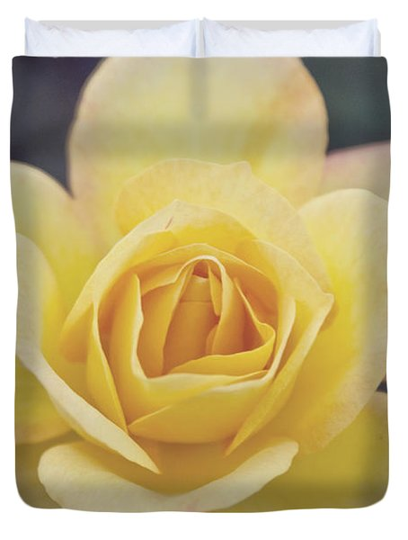 Duvet Cover featuring the photograph Gold Medal Rose by Cindy Garber Iverson