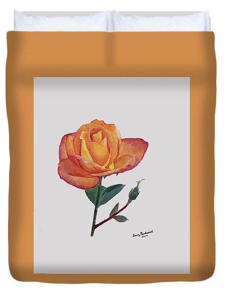 Gold Medal Rose Duvet Cover